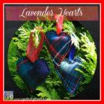 Lavender Tartan Hearts by Crystal's Tiny Treasures