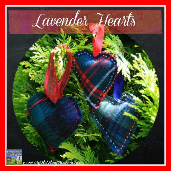 LAVENDER TARTAN HEARTS