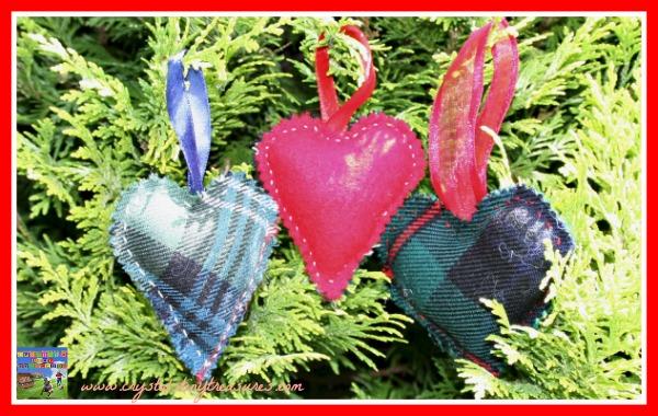 Beautiful Tartan Lavender Hearts