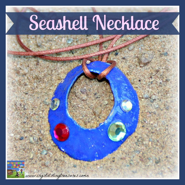 A Seashell Necklace is easy to make and is a lasting memento of a trip to the sea.