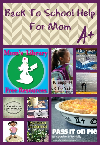 Back to School Help For Mom