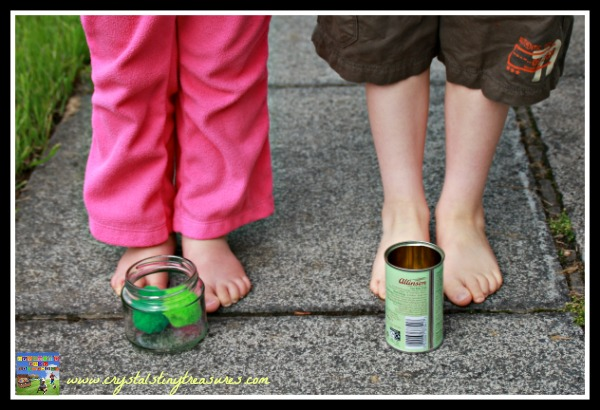 Lining up for a fun coordination game, games for all ages, easy diy games, photo