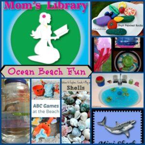 Ocean Beach Fun on Mom's Library with Crystal's Tiny Treasures
