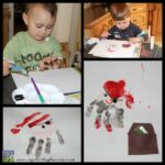 Pirate hand prints, hand print craft, preschool craft, Crystal's Tiny Treasures, photo