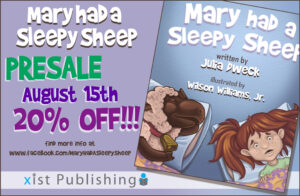 Mary Had A Sleepy Sheep is on presale, Mary Had a Sleepy Sheep review, Crystal's Tiny Treasures, great books for preschoolers and young children, photo