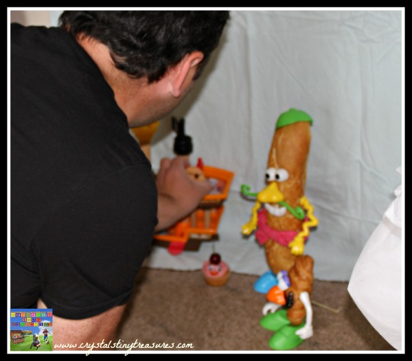 parent-child bonding, food photography, uses for Mr. Potato Head, photo