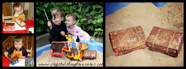 make your own treasure chest, things to make with tea boxes, photo