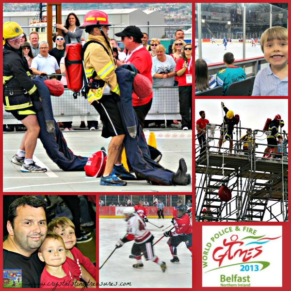 Ultimate Fireman, Ice Hockey, Family fun in Belfast, WPFG2013, photo