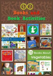 57 Children's Books and book activities on Mom's Library at Crystal's Tiny Treasures