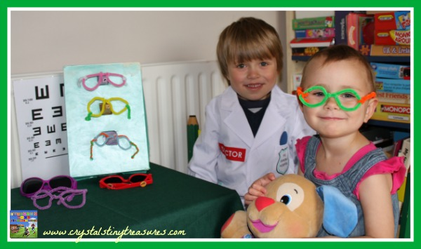 A happy customer, pretend play and learning the alphabet, photo