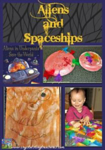 Aliens in Underpants Save the World, Aliens and Spaceship crafts by Crystal's Tiny Treasures