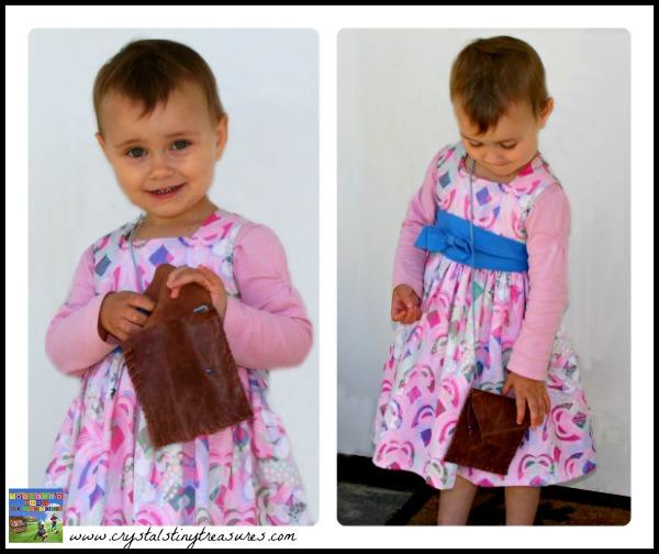 Handmade girls purse, girls crafts, practical life skills, photo
