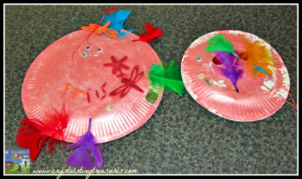 Spaceships from paper plates, paper plate crafts, photo