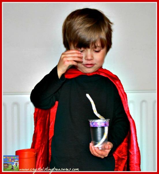 Magic tricks for kids, Floating cup trick, preschool magic, photo