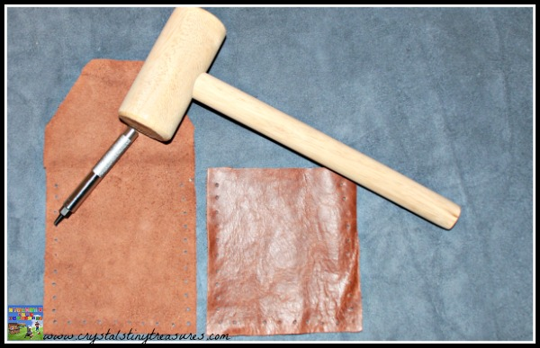 Leather purse supplies, rainy day crafts for kids, diy purse, upcycled accessories, photo