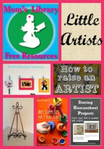 Little Artists on Mom's Library at Crystal's Tiny Treasures