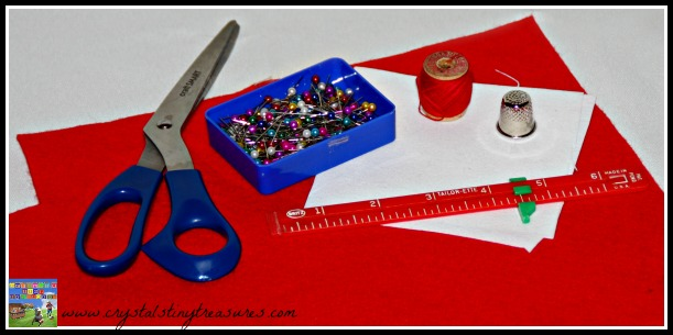 Sewing kit supplies, emergency sewing kit for Dad, kid's first sewing project, photo