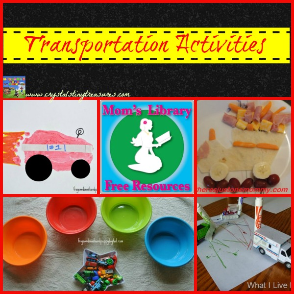 Transportation Activities on Mom's Library at Crystal's Tiny Treasures