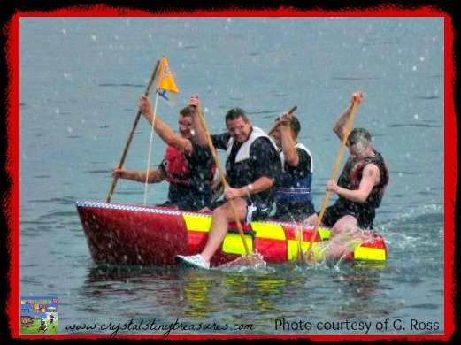 Firefighters raft race, Whitehead festival, firefighter's duties, photo