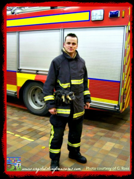 Fireman ready for action, interview with a volunteer firefighter, questions kids ask, photo