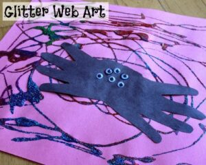 Glitter Web Art