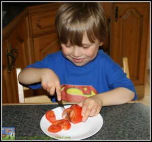 preparing a healthy lunch with DIY Lunchbox, photo