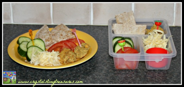 Healthy lunches prepared with the DIY Lunchbox