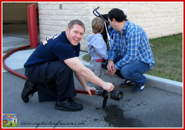 Fire hose testing, field trips for kids, community helpers, photot