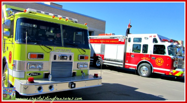 Fire Hall tour with kids, Fire Safety Week, Crystal's Tiny Treasures, photo