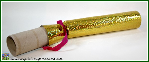 Make your own Christmas Cracker, frugal Christmas ideas, photo