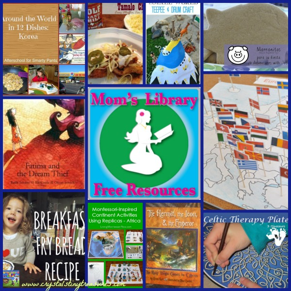Multicultural Activities for Kids on Mom's Library at Crystal's Tiny Treasures