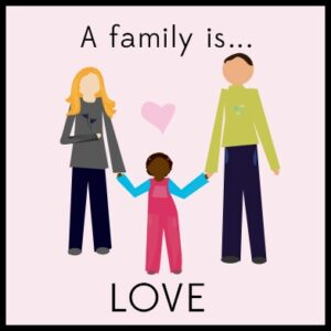 A family is Love, children's book review, photo