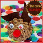 Rudolph Pine Cone Craft
