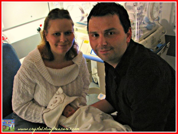 First family photo in the hospital, tiny life, premature babies, photo