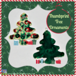 Thumbprint Tree ornaments by Crystal's Tiny Treasures