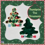Thumbprint Tree ornaments by Crystal's Tiny Treasures