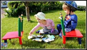Picking a matching pair!, fun matching games for toddlers and preschoolers, Crystal's Tiny Treasures, photo