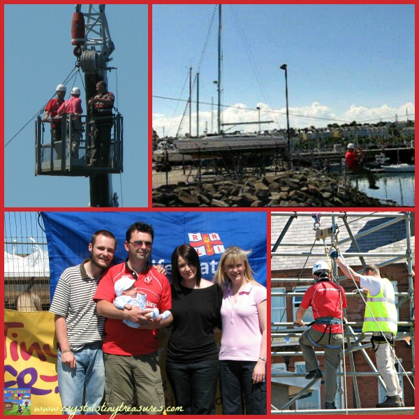 Tiny Life Zip Line Event, charity fundraising events in Northern Ireland, photo