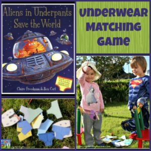 Aliens in Underpants book activity: Underwear Matching Game