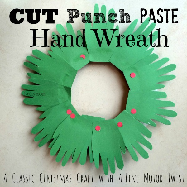 CUT-Punch-Paste-Hand-Wreath-Classic-Christmas-Craft-for-Kids-