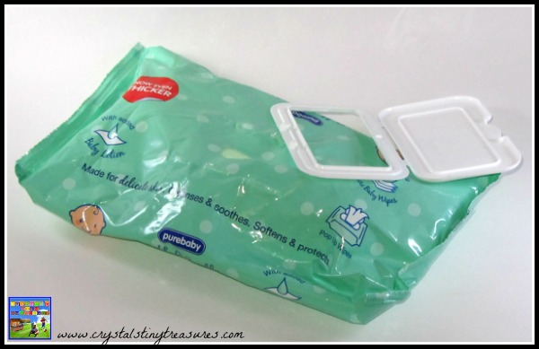 baby wipe lid up-cycling, turning junk into beauty, photo