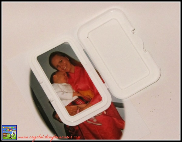 Making a peek-a-boo card, diy photo cards, preserving memories, thank you cards by kids, photo
