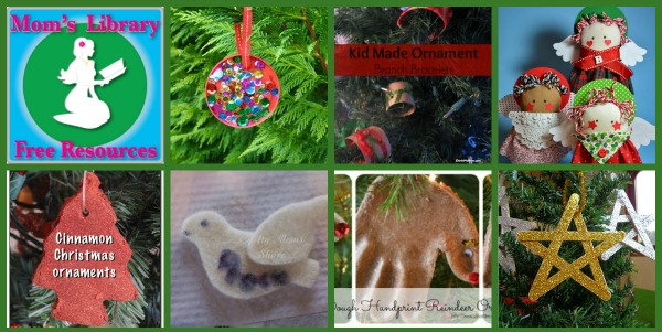 kid-made Christmas tree ornaments, Christmas fun with kids, Christmas crafts for kids, home made tree ornaments, photo