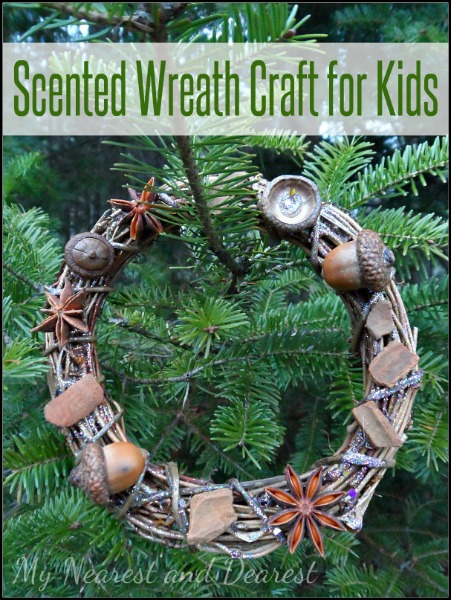 Scented-Wreath-Craft-for-Kids-from-My-Nearest-and-Dearest-blog.-A-beautiful-Christmas-keepsake-made-using-natural-materials.-