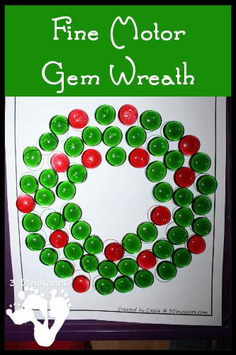 fine motor gem wreath