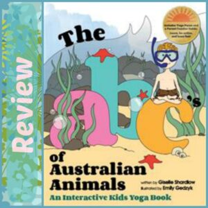 ABCs of Australian Animals An Interactive Kids Yoga Book Review, Crystal's Tiny Treasures, Yoga for kids, physical activity for kids, photo