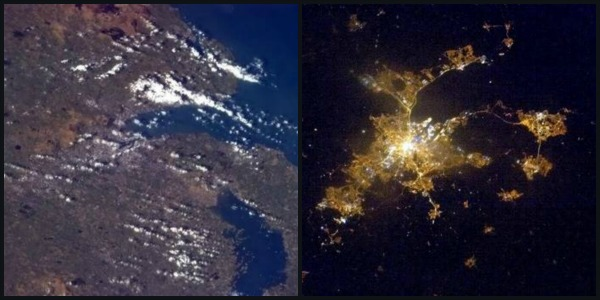 Belfast as seen from the ISS by Commander Hadfield, photos from space, photo