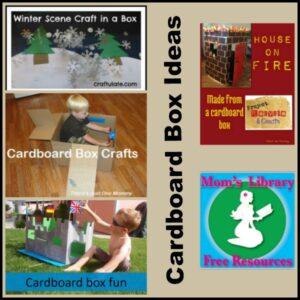 Cardboard Box Ideas on Mom's Library with Crystal's Tiny Treasures