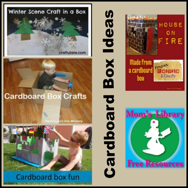 Cardboard Box Ideas on Mom's Library with Crystal's Tiny Treasures