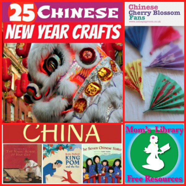 Chinese New Year Crafts and Books on Mom's Library with Crystal's Tiny Treasures